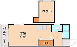 パークアベニュー井尻[2階]の間取り