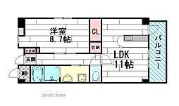 セレノアロッジオ江坂西[1階]の間取り