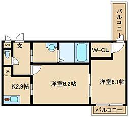 フジパレス若江岩田[3階]の間取り