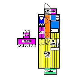 コスモ渡邊I[2階]の間取り