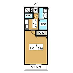 LIVABLE奥田本町[5階]の間取り