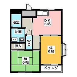 ジョイ左京山[2階]の間取り