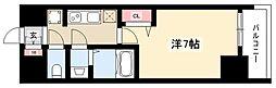 エステムコート名古屋グロース 6階1Kの間取り