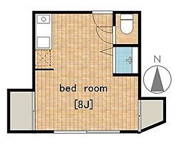 タケモトアパート[201号室]の間取り