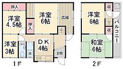 [一戸建] 兵庫県川西市滝山町 の賃貸【/】の間取り
