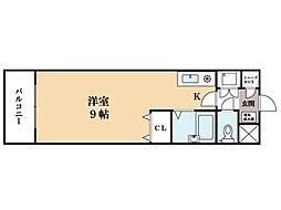 リュウライフ中川[3階]の間取り
