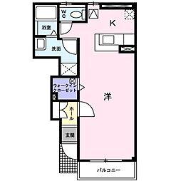 フィデールシティ戸田・壱番館[0103号室]の間取り