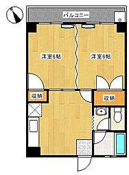 イカリハイツ[4階]の間取り