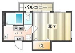 Uro桜木町[3階]の間取り