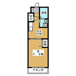 サクシード西院[2階]の間取り