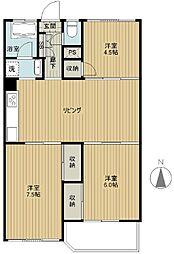 小栗原住宅3号棟[9階]の間取り