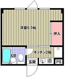 ハウス35[3階]の間取り