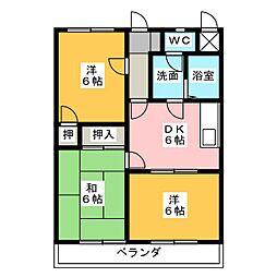 クランプガーデンサウス[2階]の間取り