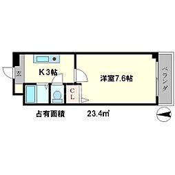 ヴェール一乗寺[3階]の間取り