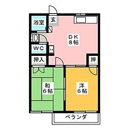 サニーコート天王[2階]の間取り