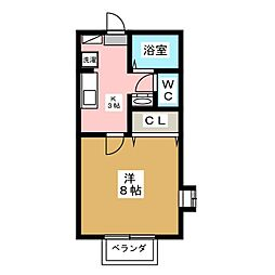 宮城県仙台市若林区遠見塚3丁目の賃貸アパートの間取り