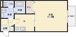 ソレアード1[1階]の間取り
