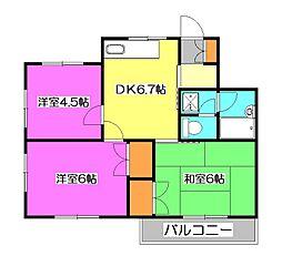 千代田コーポ[2階]の間取り