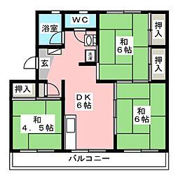 第3長丘ビル[4階]の間取り