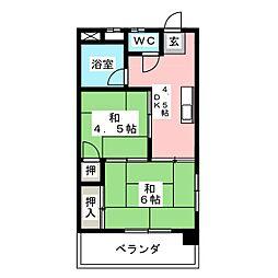 豊田荘[4階]の間取り
