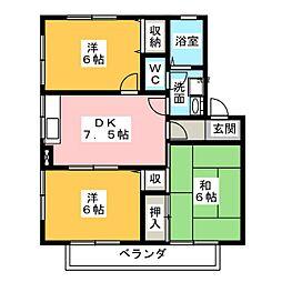 愛知県愛知郡東郷町春木台5丁目の賃貸マンションの間取り