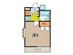 トレビアン武蔵浦和[2階]の間取り