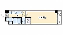 グランステージ京都四条[802号室号室]の間取り