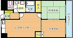 クレベール皇后崎[9階]の間取り
