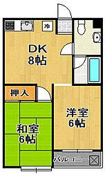 西田ビル[3階]の間取り