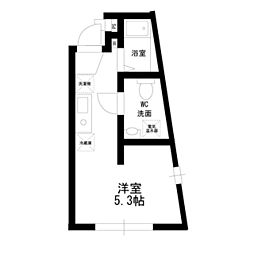 ホライゾンコート新宿西落合[202号室]の間取り