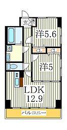 KMおおたかの森[6階]の間取り