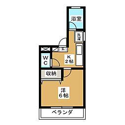 コーポエクレールII[2階]の間取り
