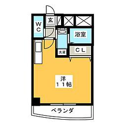 プラムファースト豊田南 3階ワンルームの間取り