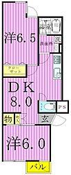 パール仲町マンション[2階]の間取り