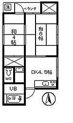 吉田コーポ[201号室]の間取り