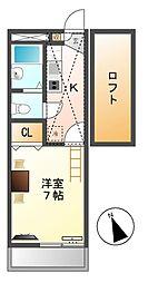 レオパレスビオラハイツ[2階]の間取り