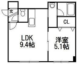 レクレール澄川[3階]の間取り