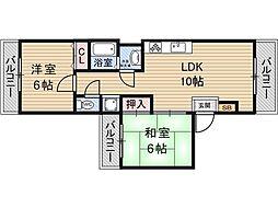 木川ドリームハイツ[4階]の間取り