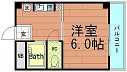 エクシード倉垣[402号室]の間取り