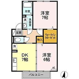 リッツハウス上野[202号室]の間取り