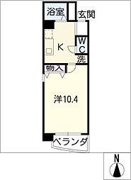 クレア垣戸[2階]の間取り