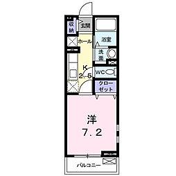 横浜市磯子区下町 下町レジデンス[2階]の間取り