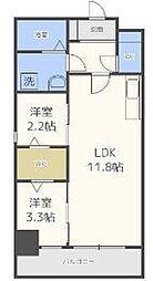 modern palazzo 天神南[401号室]の間取り