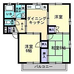 メゾニティーブラッサムA棟[2階]の間取り