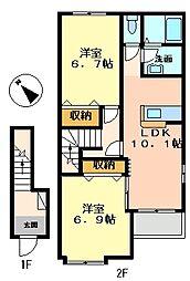 アーミストII[2階]の間取り