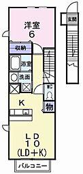 ベラビスタ E[2階]の間取り