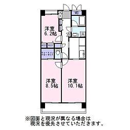 ビラ桜[6階]の間取り