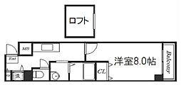 Osaka Metro千日前線 阿波座駅 徒歩3分の賃貸マンション 8階1Kの間取り