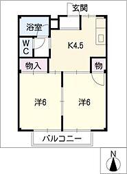 メゾンプロムナ[1階]の間取り