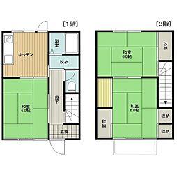 佐貫アパート3号館[2号室]の間取り